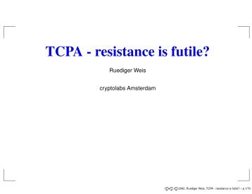 TCPA - resistance is futile? - cryptolabs.org