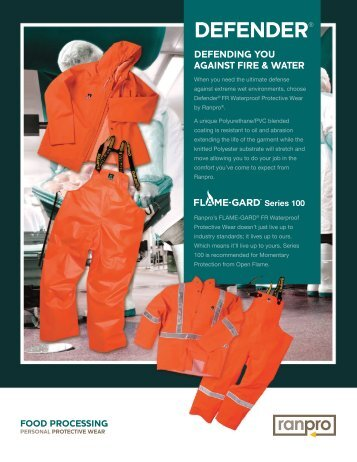 Ranpro Food Processing Personal Protective Wear: Defender