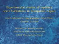 Experimental studies of capillary wave turbulence in dissipation region