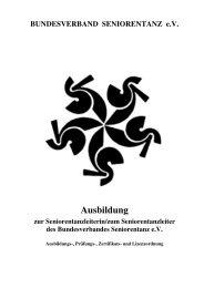 und Lizenzordnung vom 03.06.2012 - Bundesverband Seniorentanz ...