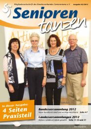 Bundesversammlung 2012 - Bundesverband Seniorentanz eV