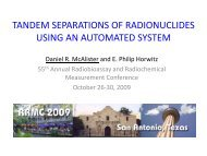 tandem separations of radionuclides using an automated ... - Eichrom
