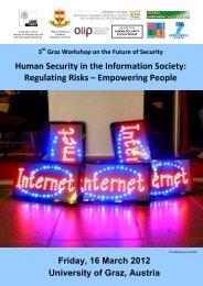 Graz Workshop on the Future of Security Human ... - ETC Graz