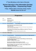 Graz Workshop on the Future of Security Human ... - ETC Graz - Page 2
