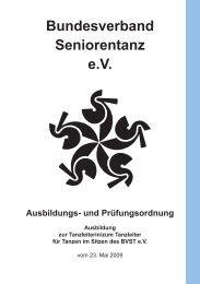 Bundesverband Seniorentanz eV Ausbildungs- und Prüfungsordnung