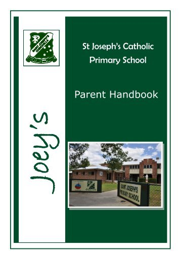 Parent Handbook -  St Joseph's Catholic Primary School Chinchilla