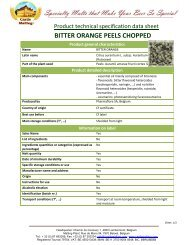 BITTER ORANGE PEELS CHOPPED - Castle Malting
