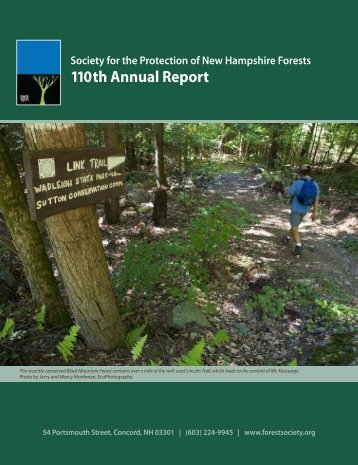 110th Annual Report - Society for the Protection of New Hampshire ...