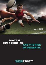 football, head injuries and the risk of dementia - Alzheimer's Australia