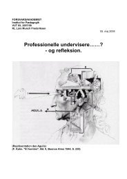 Professionelle undervisere og refleksion