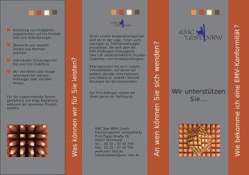 Flyer - EMC Test NRW GmbH
