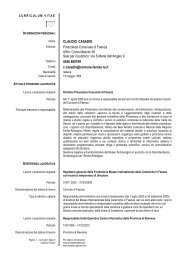 Curriculum Casadio Claudio - Comune di Faenza