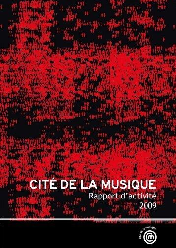 Rapport d'activité 2009 - Cité de la musique
