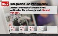 Integration und Performance - Blick