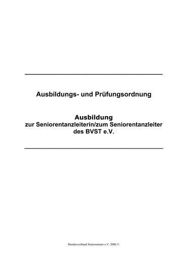 Ausbildungs - Bundesverband Seniorentanz eV
