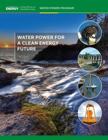 Water Power for a Clean Energy Future - EERE - U.S. Department of ...