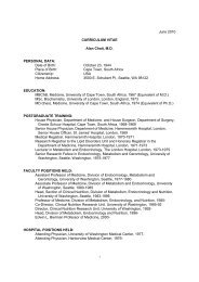 June 2010 CURRICULUM VITAE Alan Chait, MD PERSONAL DATA