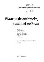 Jaarboek Parlementaire Geschiedenis 2011 - Montesquieu Instituut