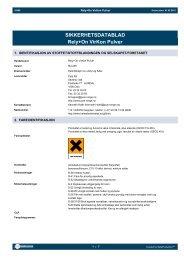 SIKKERHETSDATABLAD Rely+On VirKon Pulver