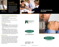 At COUNTRY, our business principles include - COUNTRY Financial