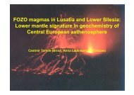 FOZO magmas in Lusatia and Lower Silesia: Lower mantle - GISLab ...