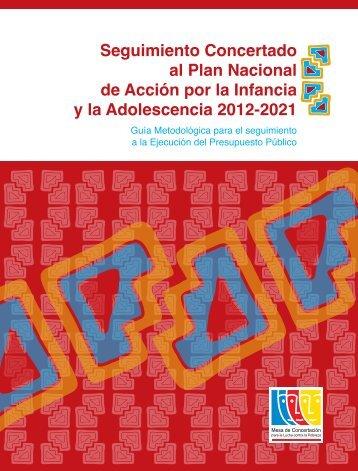 Seguimiento Concertado al Plan Nacional de Acción por la Infancia ...