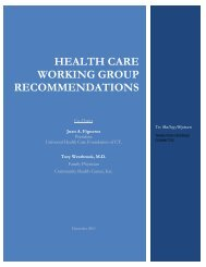 HEALTH CARE WORKING GROUP RECOMMENDATIONS - CCPA