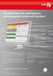 PhoneBOX Solo: the small talkshow call ... - Broadcast Bionics