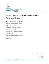 Mexican Migration to the United States: Policy and Trends
