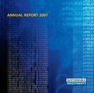 ANNUAL REPORT 2007 - Mistra