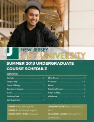 summer 2013 undergraduate course schedule - New Jersey City