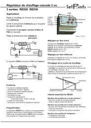 Régulateur de chauffage cascade 2 ou 3 sorties RE026 RE036