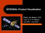 INTEGRAL Product Visualisation - ESAC Trainee Project