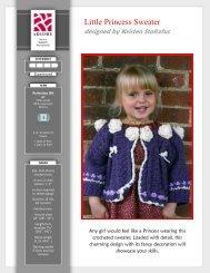 Little Princess Sweater - Kraemer Yarns