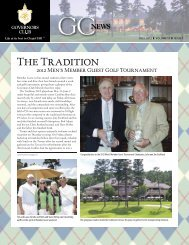 The Tradition - Governors Club Property Owners Association