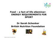 Sports nutrition - handout.pdf - Food a fact of life