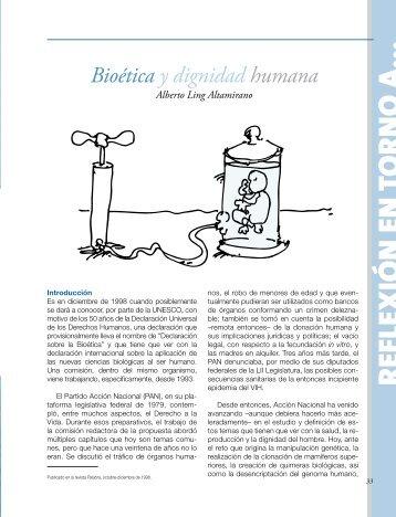 Bioética y dignidad humana Alberto Ling Altamirano