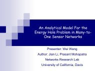 An Analytical Model For the Energy Hole Problem in Many-to- One ...