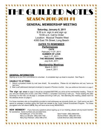 2010-2011 Season #2 - Musical Theatre West