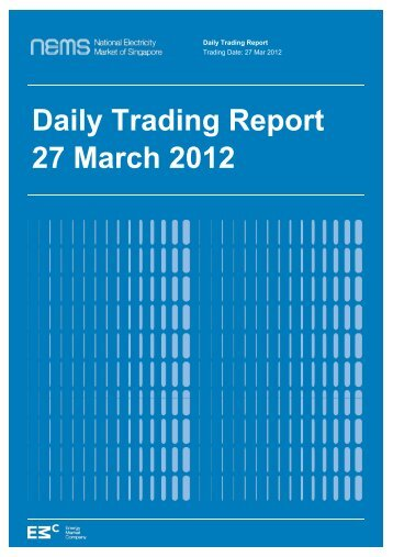 Daily Trading Report 27 March 2012 - EMC