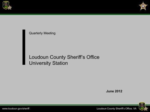 Loudoun County Sheriff's Office University Station