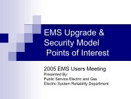 EMS Upgrade & Security Model - EMS Users Conference