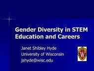 Gender Diversity in STEM Education and Careers - Department of ...