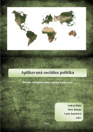Aplikovaná sociálna politika - Vysoká škola zdravotníctva a sociálnej ...