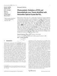 Photocatalytic Oxidation of PCE and ... - Lamar University