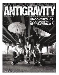August 2009 (PDF) - Antigravity Magazine