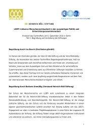 Begrüßung und Vorstellung der Stiftungen - Hirschfeld-Eddy-Stiftung