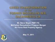 Green Transformation of McClellan - E2S2