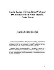Escola Básica e Secundária Professor Dr. Francisco de Freitas ...