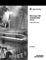 MicroLogix 1100 Embedded Web Server User Manual - Rockwell ...